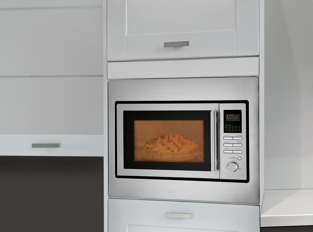 bomann 25 l edelstahl einbau mikrowelle einbaumikrowelle. Black Bedroom Furniture Sets. Home Design Ideas
