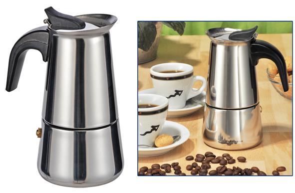 espressokocher espressozubereiter espresso kaffee kocher kaffeezubereiter neu ebay. Black Bedroom Furniture Sets. Home Design Ideas