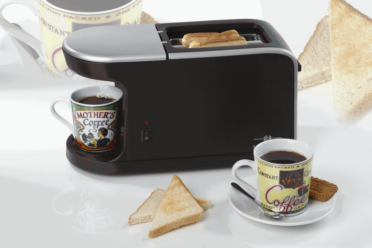 2in1 toaster kaffeemaschine toastautomat kaffeeautomat. Black Bedroom Furniture Sets. Home Design Ideas