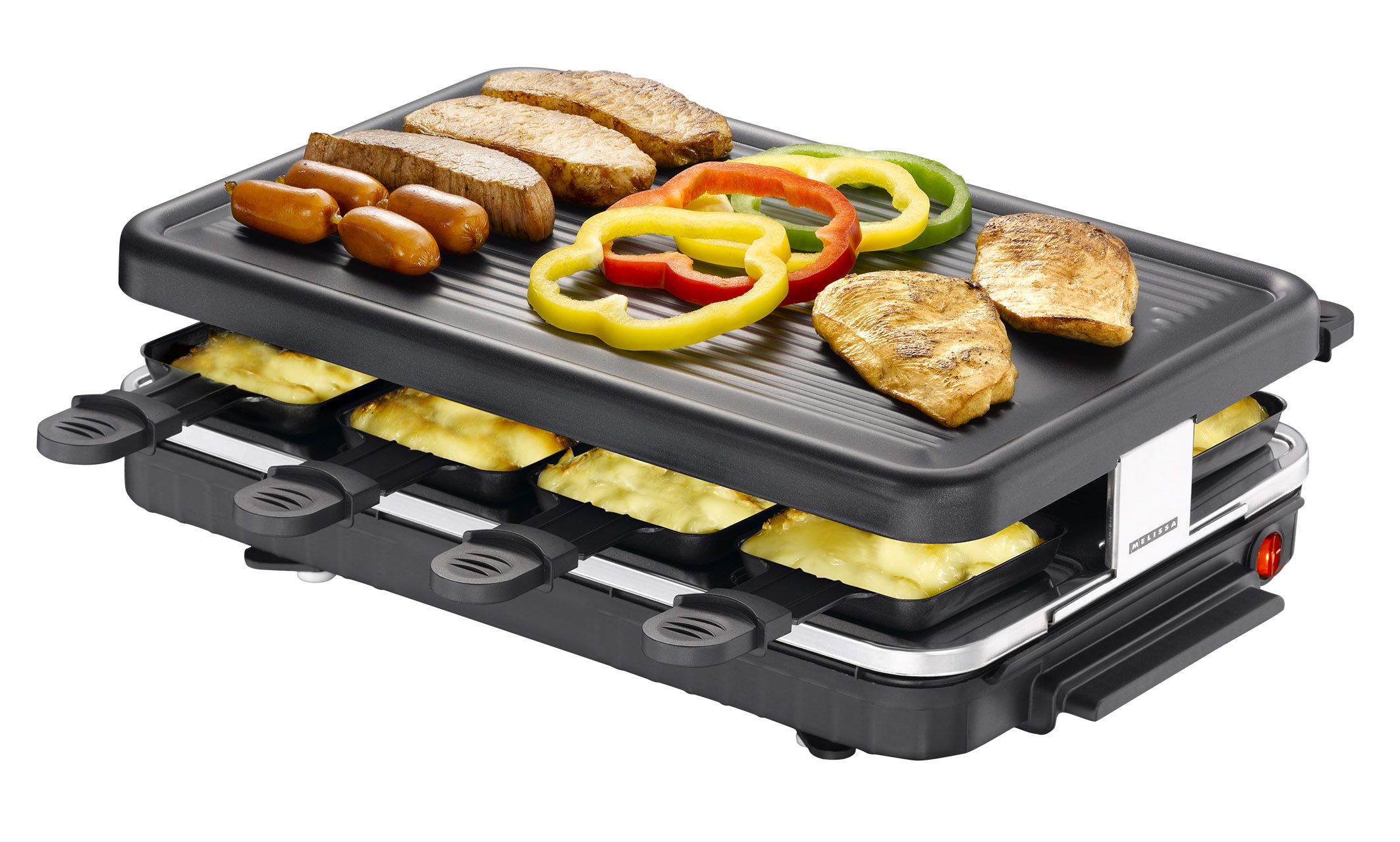 8 p raclette grill antihaftbeschichtet raclettegrill raclettgrill elektrogrill ebay. Black Bedroom Furniture Sets. Home Design Ideas