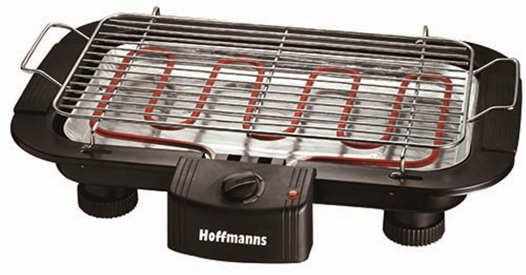 hoffmanns 2000 watt bbq elektrogrill elektrischer tischgrill elektro grill neu. Black Bedroom Furniture Sets. Home Design Ideas