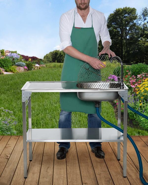 Waschtisch klappbar camping sp le garten sp lbecken waschbecken klapp sp ltisch ebay - Garten spultisch ...