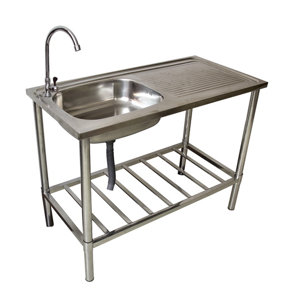 edelstahl waschtisch camping sp le gartensp le garten sp lbecken waschbecken neu ebay. Black Bedroom Furniture Sets. Home Design Ideas