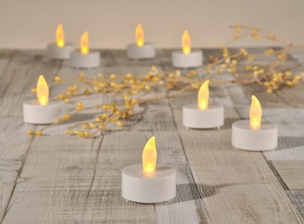 8x led teelicht fernbedienung teelichter inkl batterien kerze kerzen tee licht ebay. Black Bedroom Furniture Sets. Home Design Ideas