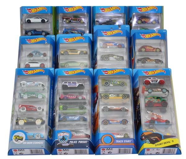 """12 x 5 Spielzeug-Autos Mattel """"Hot Wheels"""" 01806 (insgesamt 60 Autos!)"""