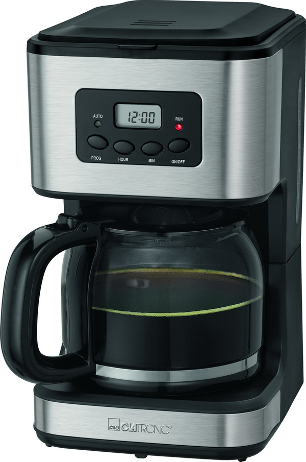 clatronic kaffeemaschine mit timer kaffeeautomat lcd uhr. Black Bedroom Furniture Sets. Home Design Ideas