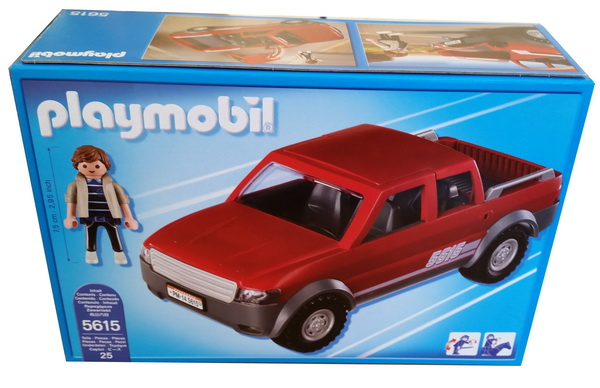 playmobil 5615 pick up mit doppelkabine pickup auto transportauto suv lkw truck ebay. Black Bedroom Furniture Sets. Home Design Ideas