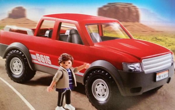 playmobil 5615 pick up pickup transporter gel ndewagen. Black Bedroom Furniture Sets. Home Design Ideas