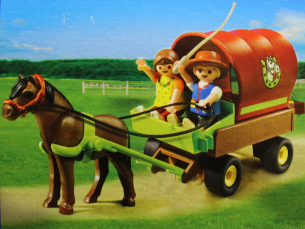 Playmobil 5228 kinderkutsche country kutsche kinder ponywagen pferd pony figuren ebay - Playmobil kutsche ...