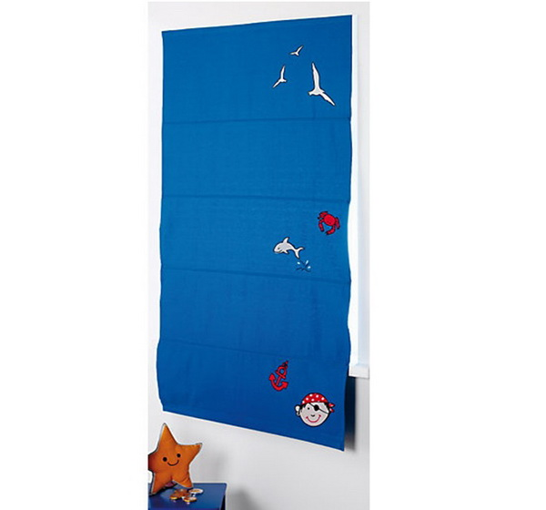 kinderrollo kinder raffrollo mit klettsystem faltgardine gardine kindergardine ebay. Black Bedroom Furniture Sets. Home Design Ideas