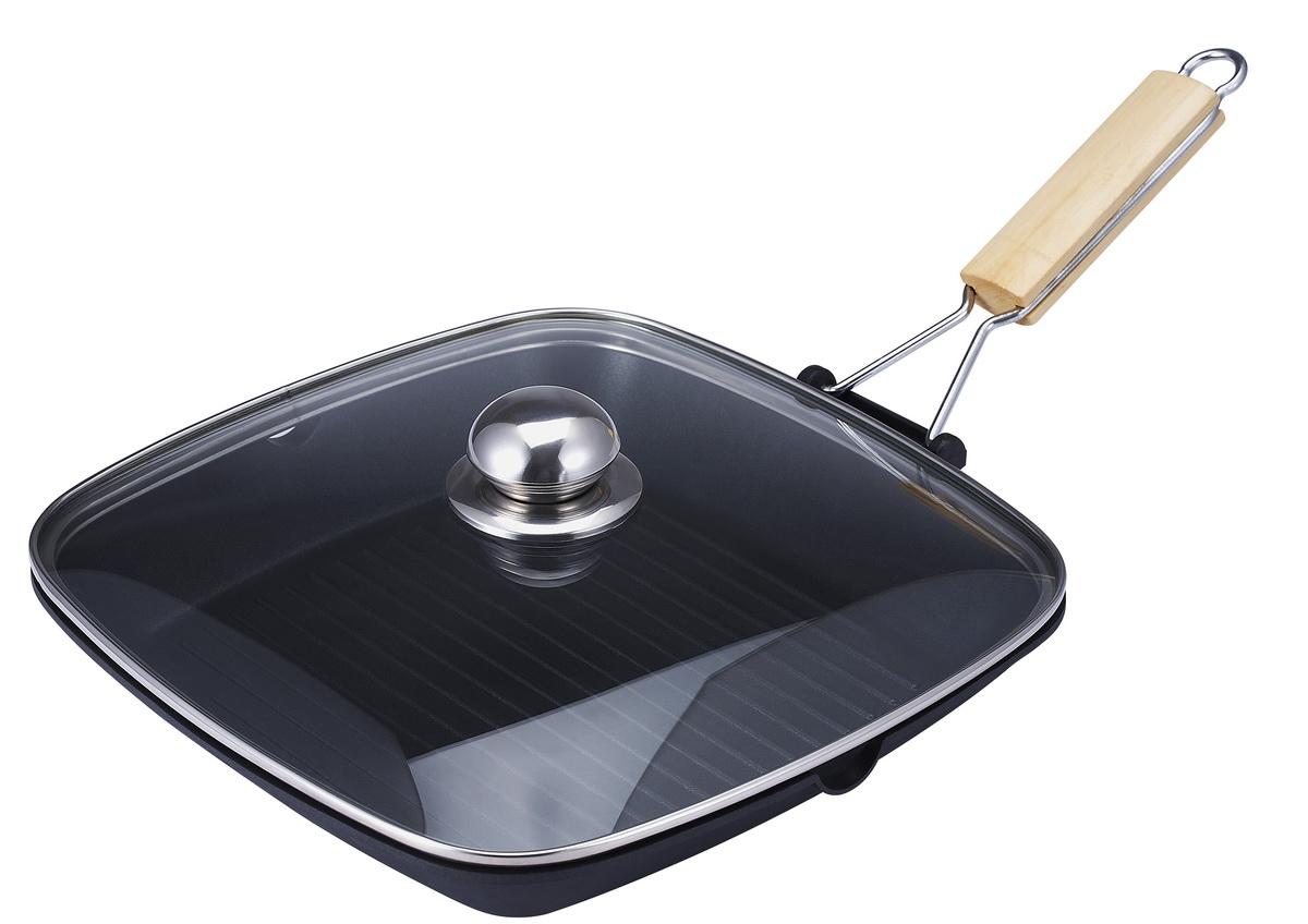 gundel pfannen bratpfanne induktion flach 24cm h 5cm mit glasdeckel ebay. Black Bedroom Furniture Sets. Home Design Ideas