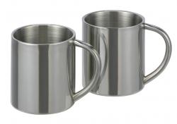2 Stück Edelstahl Thermo-Trinkbecher, doppelwandig,  200ml 16261