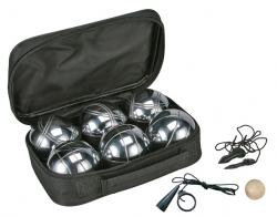 Boule-Set: 6 Stück Boccia Kugeln im Set mit Tragetasche 66021