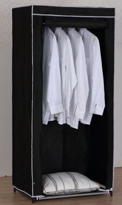 kleiderschrank faltschrank faltkleiderschrank textilschrank garderobenschrank ebay. Black Bedroom Furniture Sets. Home Design Ideas