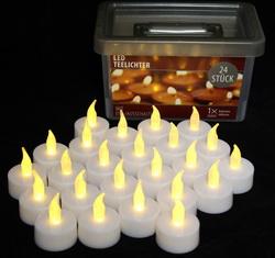 24 batteriebetriebene Teelichter mit Ein-/Ausschalter 613-701888