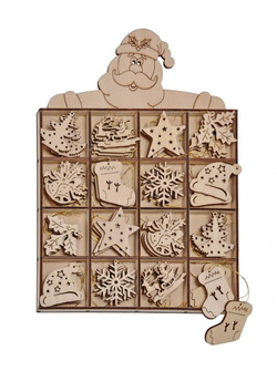 48 holzanh nger holz weihnachstschmuck weihnachts schmuck. Black Bedroom Furniture Sets. Home Design Ideas