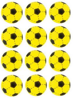 12 x Softball Fußball Soft-Ball 735-0605 Gelb