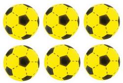 6 x Softball Fußball Soft-Ball 735-0605 Gelb