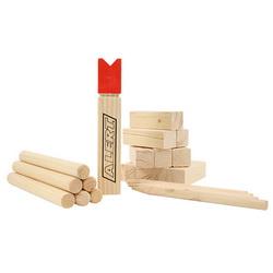 """ALERT Holzspielzeug """"Kubb"""" Spiel Wurfspiel aus Holz Werfspiel 740-0218"""