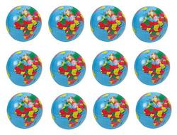 12 x Aufblasartikel Globus 100 cm 778-1110