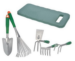 5-tlg. Gartenwerkzeug-Set 94411 + Knieunterlage 94060