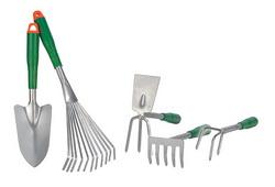 5-tlg. Gartenwerkzeug-Set 1 Schaufel und 4 versch. Harken 94411