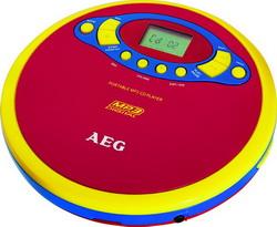 AEG tragbarer Kinder-CD-Player mit Kopfhörer CDP 4228 Bunt