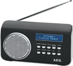 AEG DAB+ Radio mit Netzteil Aux-In RDS DAB 4130 Schwarz