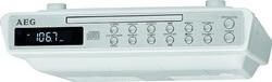 AEG Unterbau-Küchenradio Uhren-Radio Weiß mit FB KRC 4376 CD