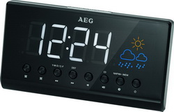 AEG Projektions Uhrenradio Radiowecker mit Wetterinfo MRC 4141P N