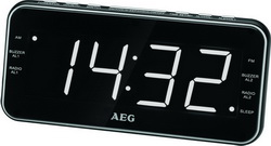 AEG Uhrenradio Radiowecker Radio USB-Ladeport MRC 4157 schwarz