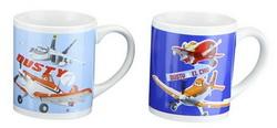 """2 x Keramik-Tasse Becher """"Disney Planes"""" Keramiktasse 100956"""